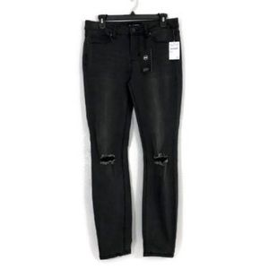 Ashley Mason Charcoal Distressed Pants Size 30